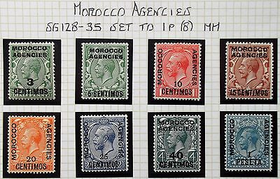 (A600) Spanish Issue 1914 #128-35 Set to 1p (8) MH.