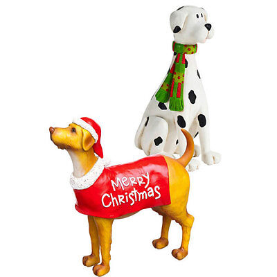Dogs Holiday Figurine Sitabouts