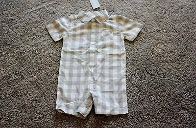 Gymboree Size 12-18 months Baby Boys Bunnies and Gentlemen Romper Outfit NWT NEW