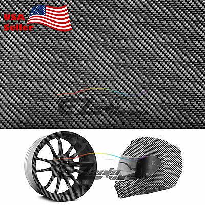 "19""x38"" Hydrographic Film Hydro Dipping Dip Water Transfer Black Carbon Fiber #6"