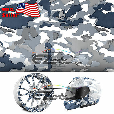 "19""x38"" Hydrographic Film Hydro Dipping Water Transfer Snow Camo Camouflage #8"