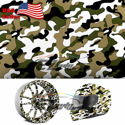 """19""""x38"""" Hydrographic Film Hydro Dipping Water Transfer Woodland Camouflage #9"""