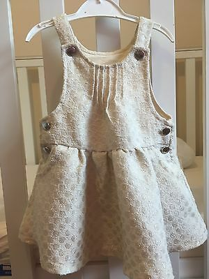 Beautiful 6-9 Month Girls Occasion Party Dress Baby Pinafore
