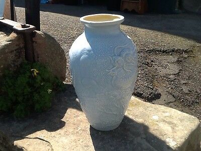 Large Antique Bretby Dragon Moulded Vase Early 20Th C.