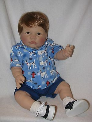 "Adorable All Vinyl 21"" Reborn Berenguer Atomically Correct Baby Boy Doll"