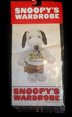 Peanuts Snoopy's  Wardrobe HIKING SHORTS Outfit Clothes  - fits baby plush   NIP
