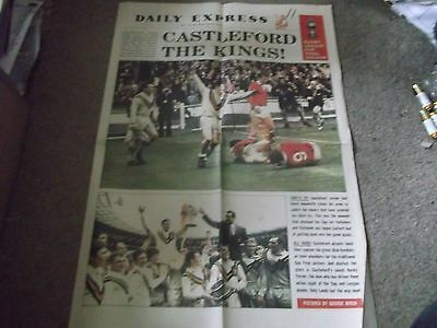 Vintage Daily Express 1969 Rugby League Challenge Cup Final Castleford Salford 2