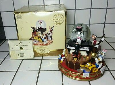 Disney Mickey Mouse March Musical Steamboat Snowglobe 1955 Jimmie Dodd MUST SEE!
