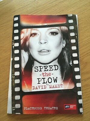 Speed The Plow Programme Playhouse Theatre Lindsay Lohan 2016
