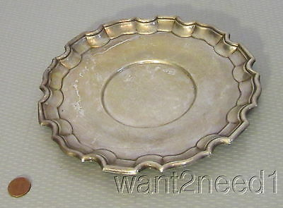 "vtg BIRKS STERLING SILVER 8"" TRAY DISH CANADA piecrust fluted edge 193g no mono"