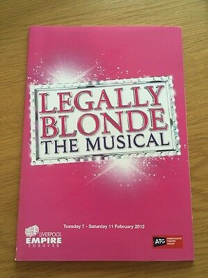 Legally Blonde The Musical Programme Liverpool Empire Theatre 2012