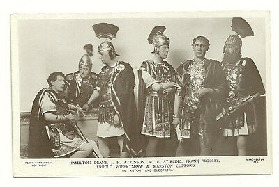 Theater Postcard   Queens Theater Manchester  Anthony Cleopatra Real Photo Rppc