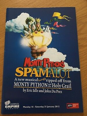 Monty Phython's Spamalot Musical Liverpool Empire Programme 2012