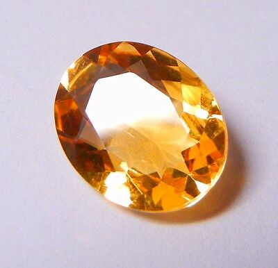 Oval Cut Untreated Natural Indian Citrine 11X9mm with a Weight of 2.50 Carats