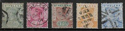 St Helena 1884 QV Definitives - SS to 2 1/2d - Used