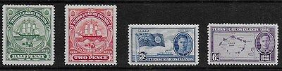 Turks and Caicos Islands 1948 - Centenary of Separation - SS to 6d - MH