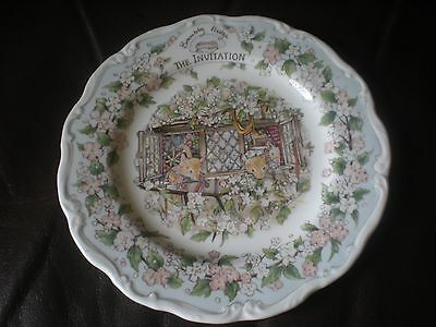 Royal Doulton Brambly Hedge  - the invitation 8 inch  Plate  - 1st quality