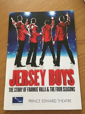 Jersey Boys Prince Edward Theatre London Programme 2011