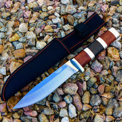 "10""  Defender Xtreme Hunting Knife Stainless Steel Blade with Wood Handle"