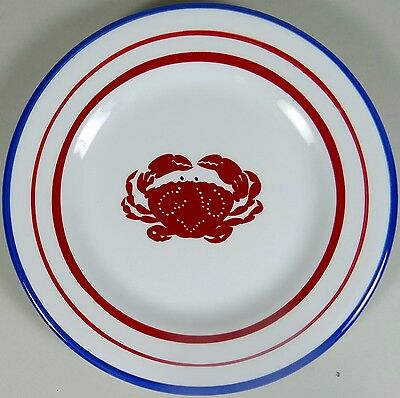 """Lobster Crab Salad Plate SONOMA NANTUCKET 8"""" Red White Blue 2007 Life Style Mint"""