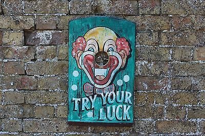 Small Clown Fairground 'Try Your Luck' Sign