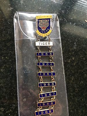 Sheffield Tigers Speedway Badge And Year Bars