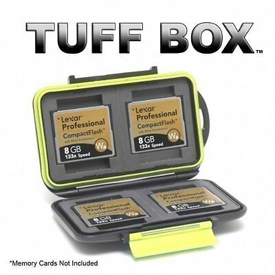 TUFF Box Compact Flash Memory Card Case. Holds 4 CF Cards.