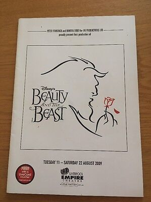 Beauty And The Beast Musical Theatre Programme 2009 Liverpool Empire