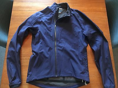 Rapha Mens RN 136413 Cycling Wind Jacket in Navy - Medium (worn once)