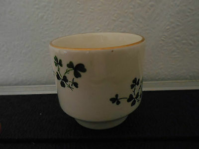 Carrigaline Pottery, Ireland: egg cup with shamrocks design
