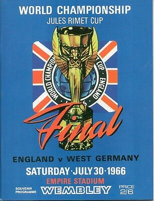 1966 World Cup Final ENGLAND v WEST GERMANY reprint Football Programme