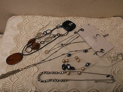 Mixed lot of costume jewellery necklaces - Next,M&S, Bay