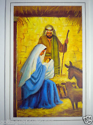 """VTG """"IN THE STABLE"""" CHRISTMAS GREETING CARD ~ N.R.Litteral - Mouth Painter~#E614"""