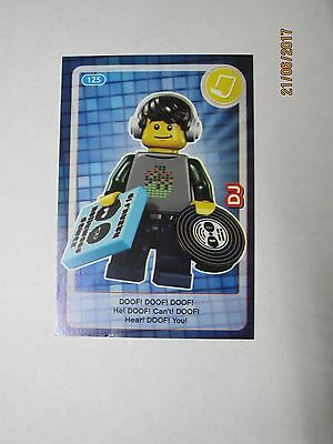 Lego Trading Card Create the World (Sainsbury's) No 125 DJ