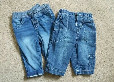 Bundle of 2 pairs of boys jeans 3 - 6 months