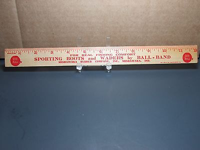 Ball Band Sporting Boots Waders Mishawaka IN Red Ball Shoes Advertising Ruler
