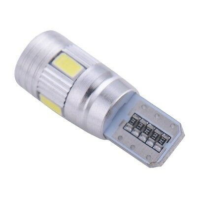 2 Lampade  LED T10 HID 6 SMD Canbus 5630 BIANCO Xenon  W5W