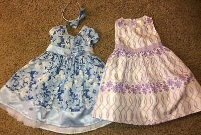 Lot Of 2 Toddler Girl Gymboree Dresses Size 3T Blue And Purple