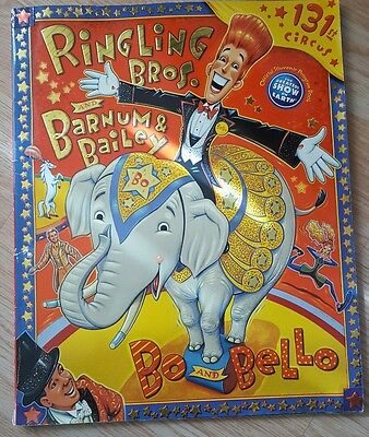2001 131 Ringling Bros & Barnum & Bailey Circus Program Bo And Belle Autographed