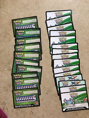 26 Pokémon Online Code Cards Never Used!