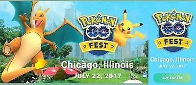 POKEMON GO FEST CHICAGO! Two Tickets/Wristbands SOLD OUT! Grant Park 7/22