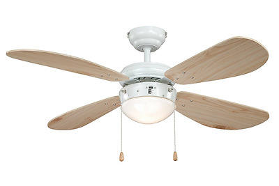AireRyder FN43315 Ceiling Fan Classic with Lighting - White/Pine