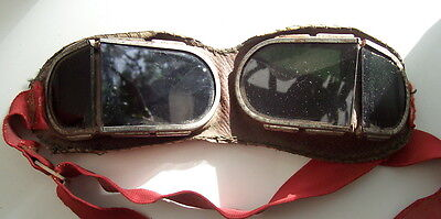WW2 RKKA Russian Soviet tankman green glasses sun & dust protection goggles