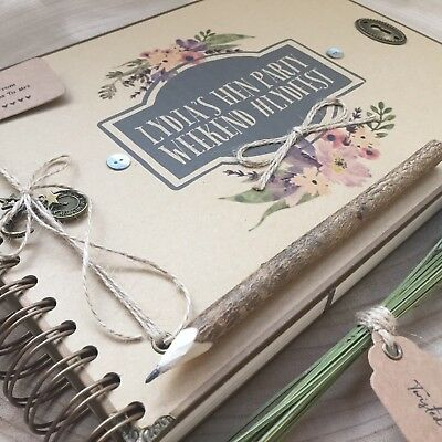 Personalised Hen Party Scrapbook/ Memory Book/ Guest Book/Any Message Printed
