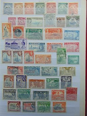 Coomonwealth 3 page collection MH+used letter B to Gibraltar GVI-QEII earlies