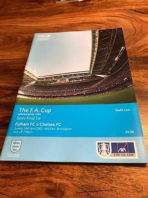 Fulham V Chelsea 2002 Fa Cup Semi Final Programme Mint Free Postage Look