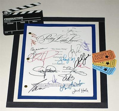 """Pretty Little Liars """"the Jenna Thing"""" Script Signed  Lucy Hale, Ian Harding"""
