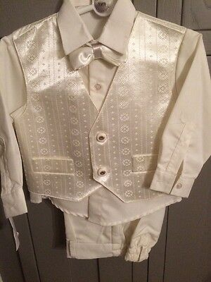 Baby boys Ivory Suit For Wedding, Christening,holy Communion Size 1 Year