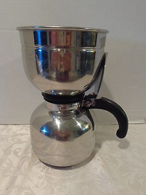 Vintage Nicro Cory 6 Cup Stainless Steel Vacuum Coffee Brewer Pot Usa
