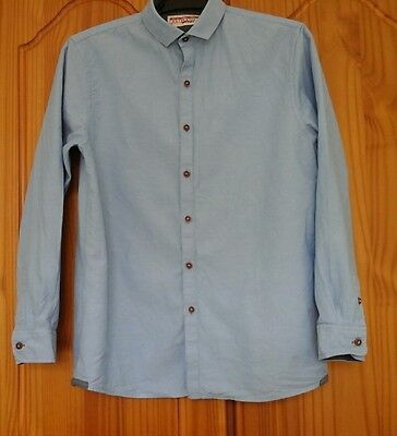 Boys Next long sleeved blue shirt, to fit age 12 years (height 152cms).